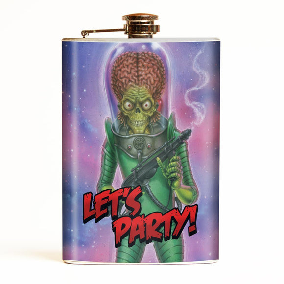 Mars Attacks Let's Party Flask