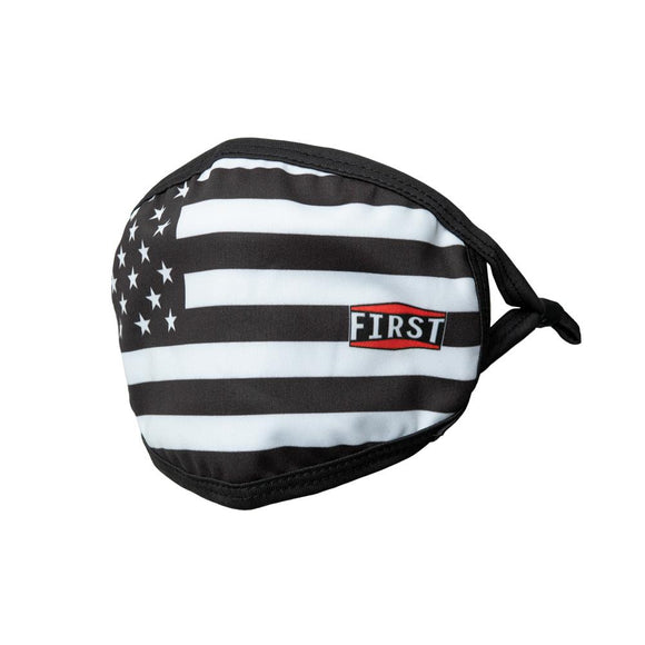 Black & White USA Flag Face Mask