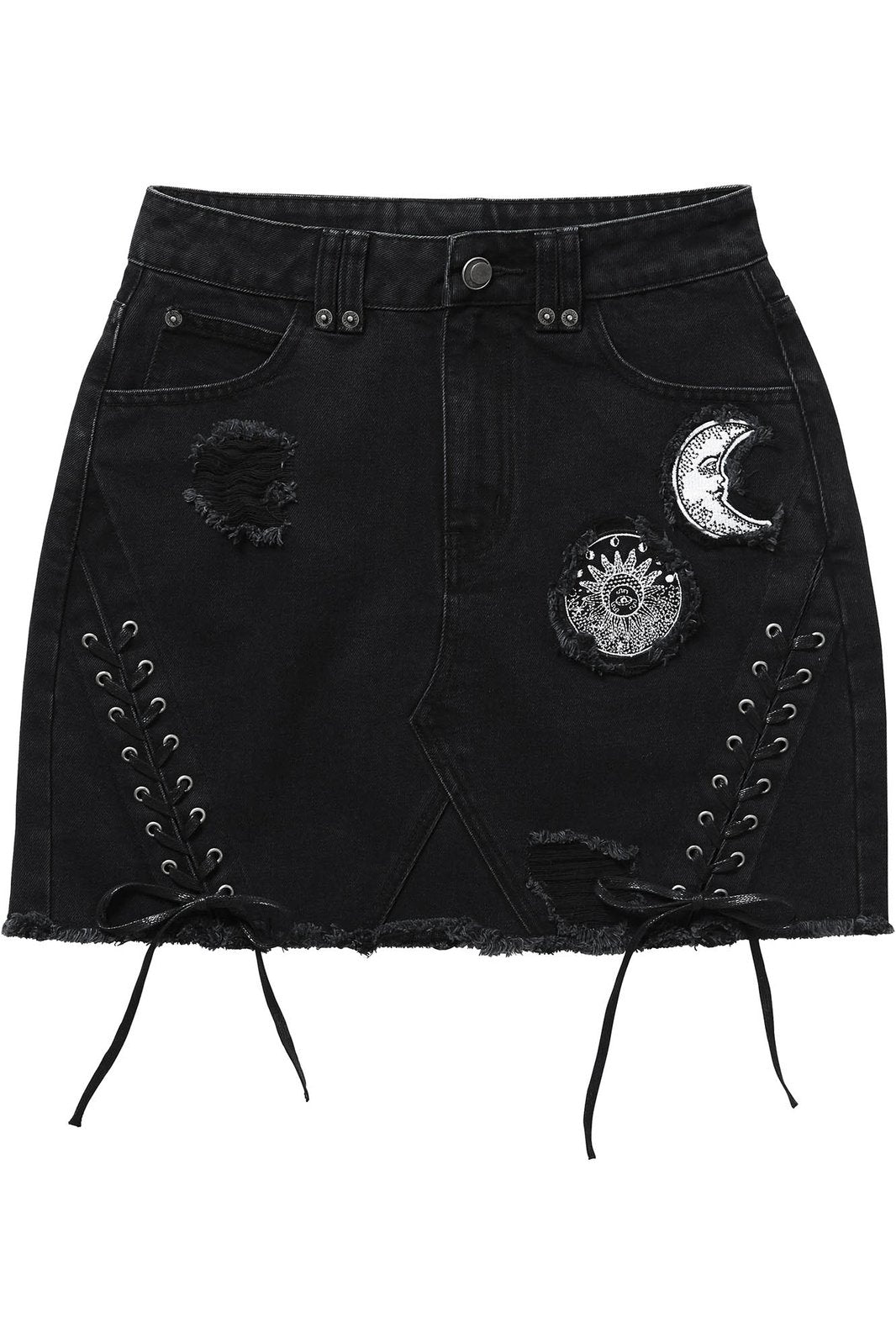 Phased Out Denim Skirt