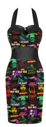 Load image into Gallery viewer, Universal Monsters Pin Up Pencil Dress