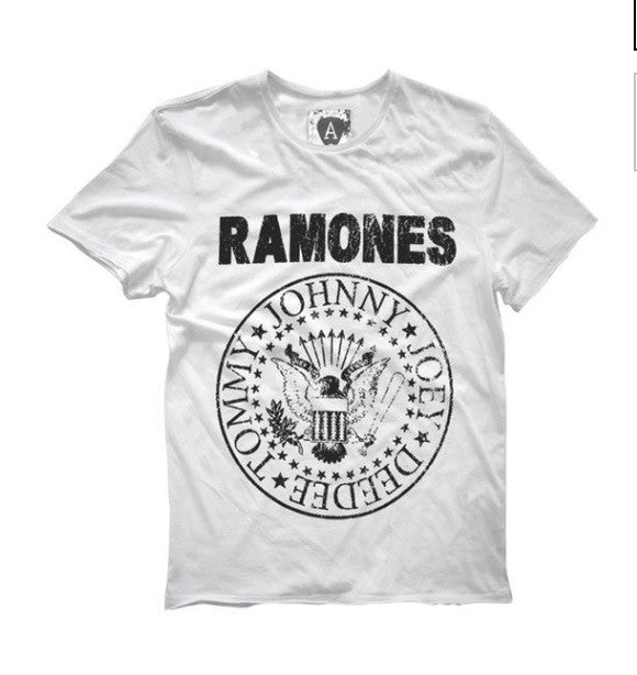 With Rock Tshirt White Hot – Ramones Emblem Hollywood dBorCxe