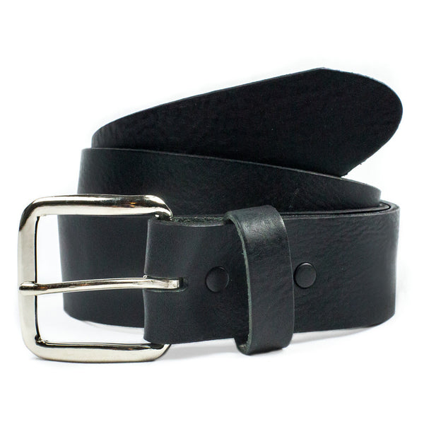 "1 1/2"" Soft Leather Belt - Black (Mascorro)"