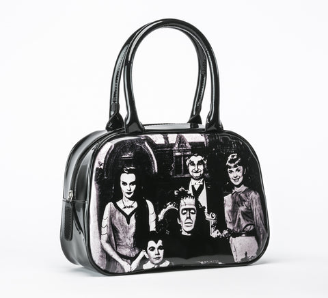 The Munsters Family Portrait Handbag VEGAN (Rock Rebel)