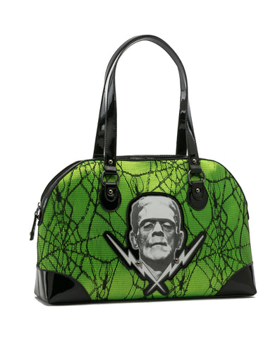 Frankenstein Lace Handbag Green VEGAN (Rock Rebel)