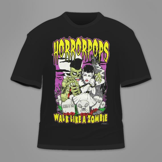 Horrorpops Walk Like A Zombie T-Shirt
