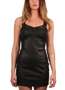 Puzzle Vegan Leather Dress