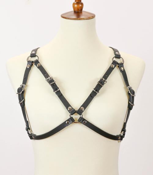 Adjustable Leather Bra Harness