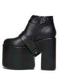 UP Black Vegan Leather Boot
