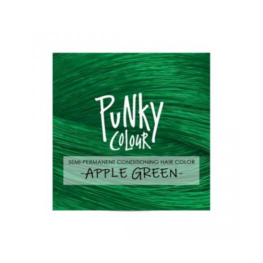 Punky Colour, semi-permanent conditioning hair color, Apple Green, 3.5 fl oz