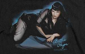 Bettie Page Blue Moon Soft T-Shirt