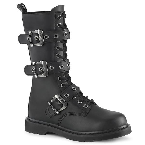 Bolt-330 Vegan Leather 14 Eyelet Calf Combat Boot