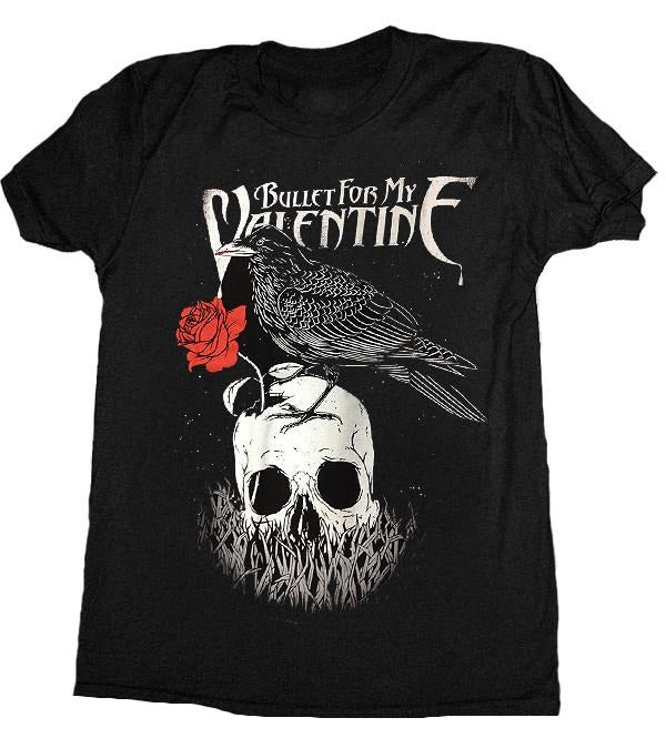 "Bullet For My Valentine ""Raven with Rose"" Men's T-Shirt"