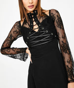 Load image into Gallery viewer, Night-Vision Lace-Up Dress