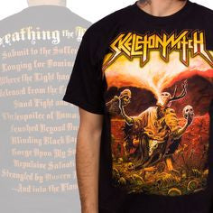 "Skeletonwitch ""Breathing Fire"" Men's T-Shirt with Back Print"