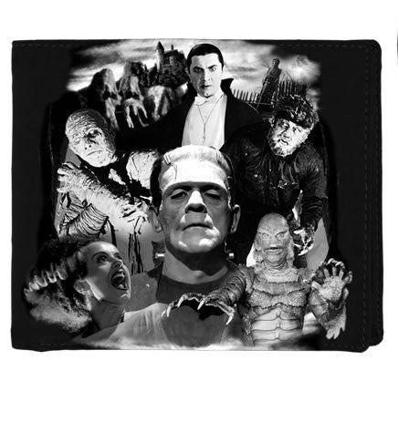 Universal Monsters Collage Bi-fold Wallet (Rock Rebel)