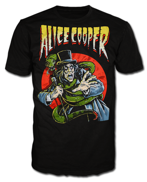 "Alice Cooper ""Comic Book Cover"" Men's Tee"