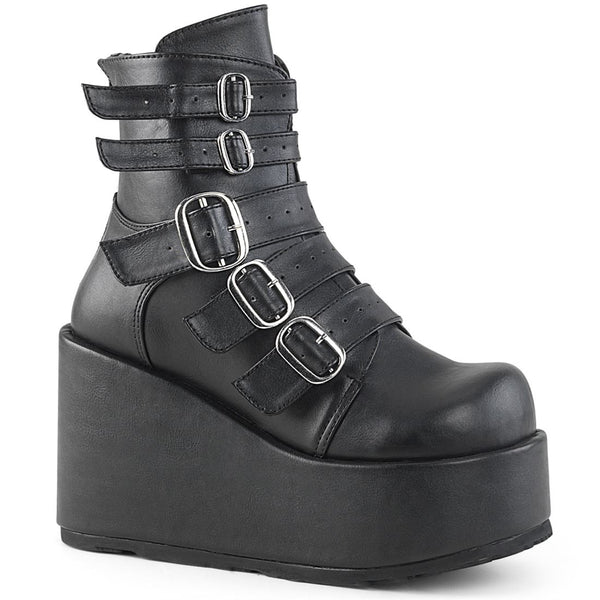 "Concord-57 Vegan Leather Ankle 4 1/4"" Platform Boot"