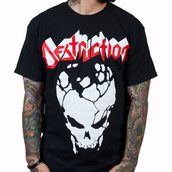 Destruction Cracked Skull T-Shirt