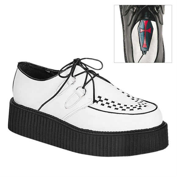 Creeper-402 Real White Leather 2