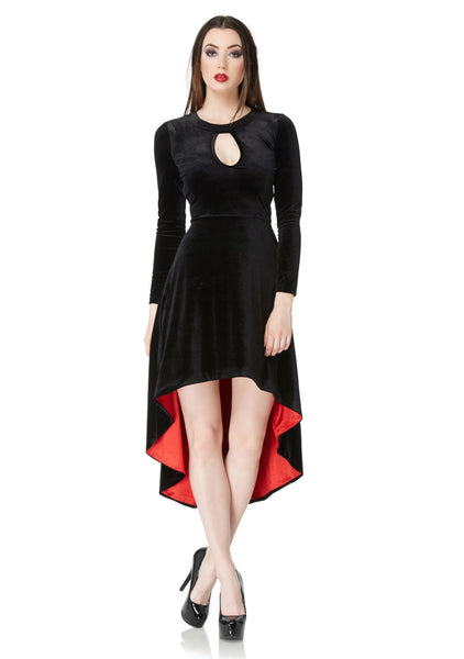 The Vampire's Muse Black Velvet Dress (Jawbreaker)