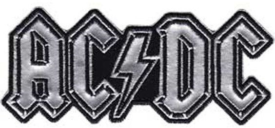 ACDC Chrome Logo Patch