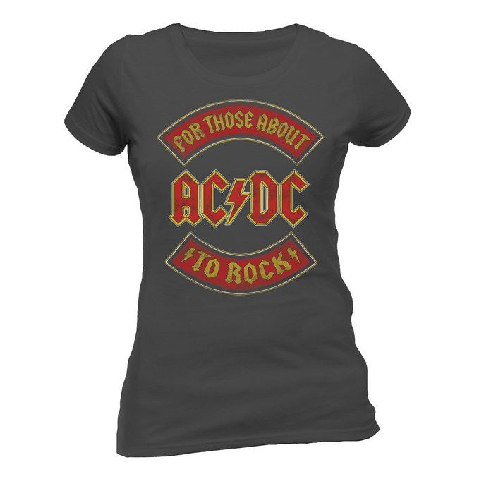 ACDC For Those About to Rock Gray T-Shirt