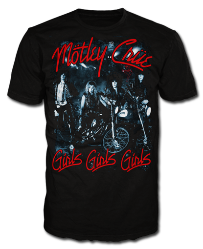 "Motley Crue ""Girls, Girls, Girls"" Men's T-Shirt"
