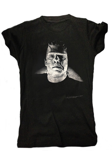 Gray Frankenstein Women's Tee DISCONTINUED (Rock Rebel)