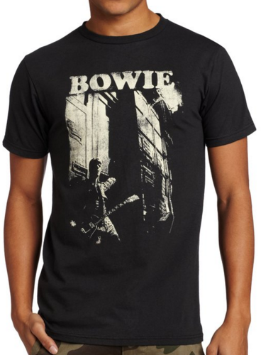 David Bowie Guitar Men's SOFT Tee CHARCOAL/GRAY