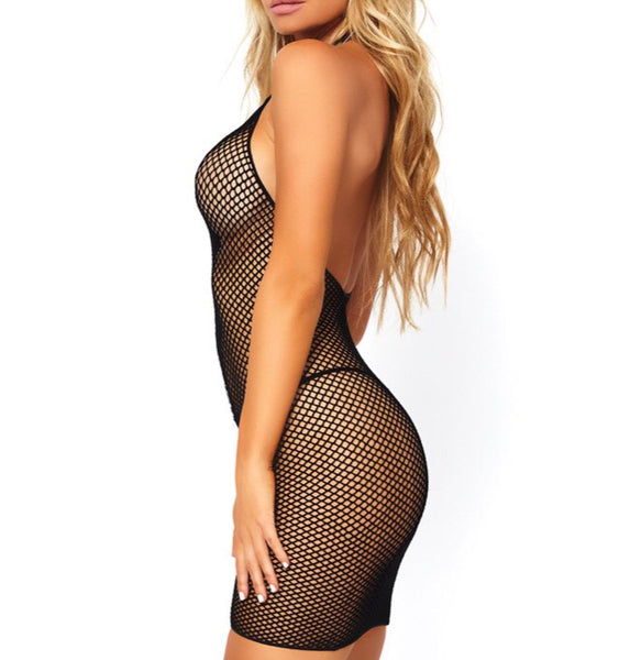 Fishnet Zipper Dress