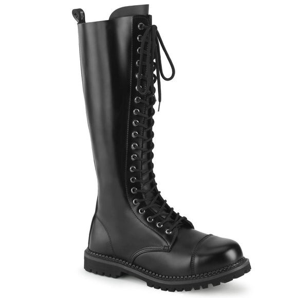 Riot-20 Real Leather 10 Eyelet Steel Toe Boot
