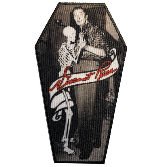Vincent Price Skeleton Dance Coffin Patch