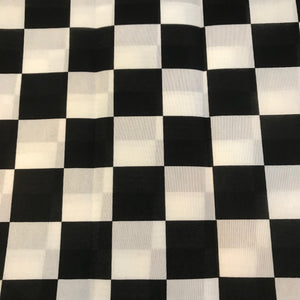 Checkered Black and White Bandanna
