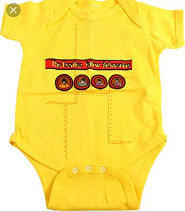 Beatles Yellow Submarine Onesie in Yellow
