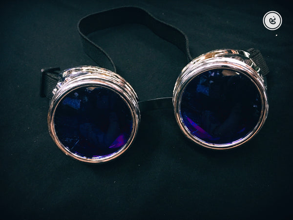Cyberpunk Goggles with Blue Lenses
