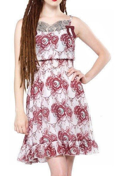 Sourpuss Eye Blossom Babydoll Dress