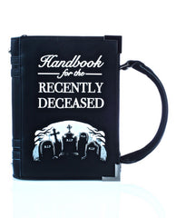 Book of the recently deceased handbag