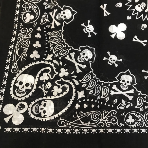 Skull crossbones and paisley bandanna