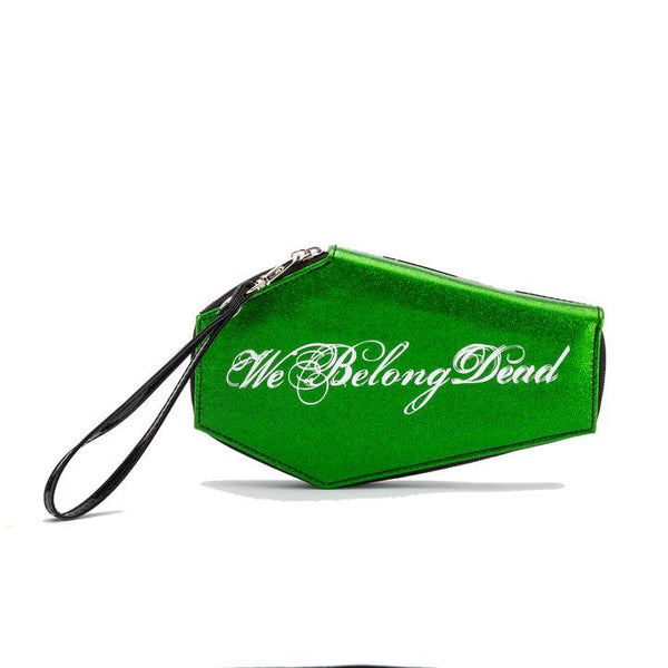 Bride of Frankenstein We Belong Dead Green Glitter Women's Wallet