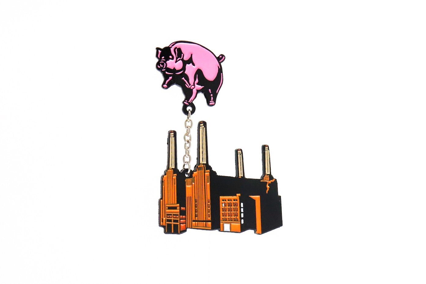 Pink Floyd Animals Building Enamel Pin
