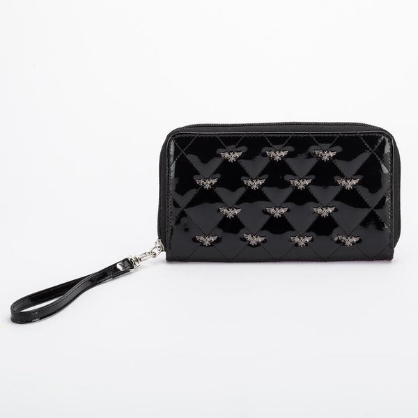 Bat Quilted Wallet