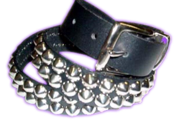 2 Row Silver Cone Studded Belt