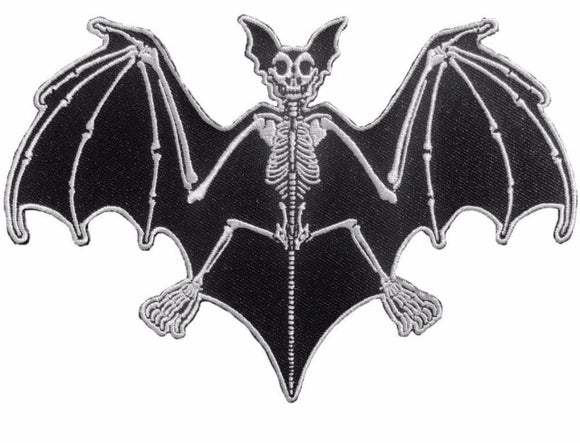 Bat Skelli Bones Patch Large