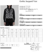 Load image into Gallery viewer, Gothic Jacquard Rue Pocket Vest