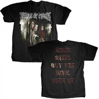 "Cradle of Filth ""Jesus Saves"" Men's T-Shirt with Back Print"
