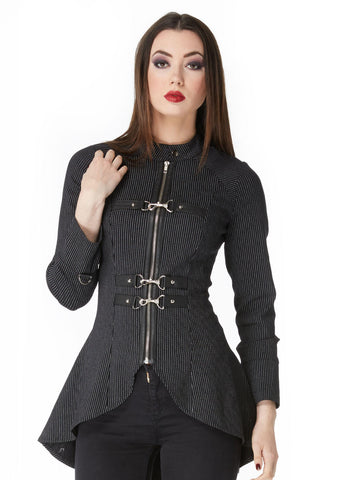 Pin Striped Buckle Jacket (Jawbreaker)