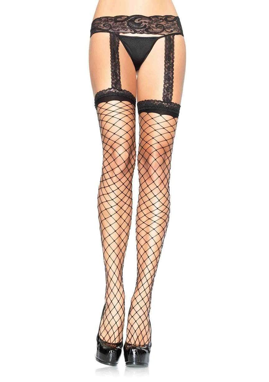Lace Garter Belt Fence Stockings