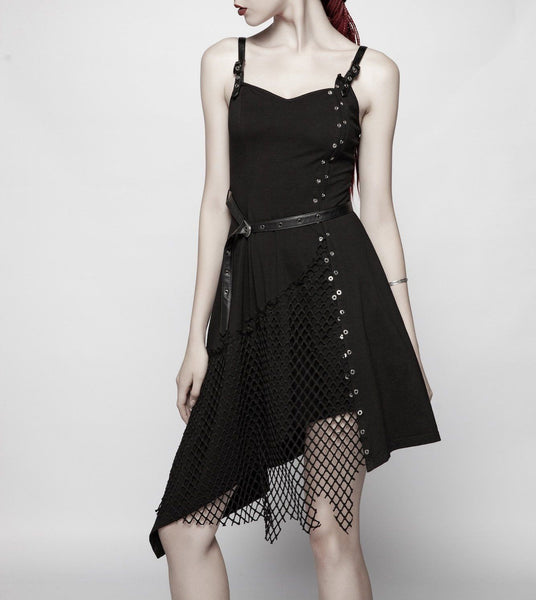 Morphia Eyelet Asymmetric Dress
