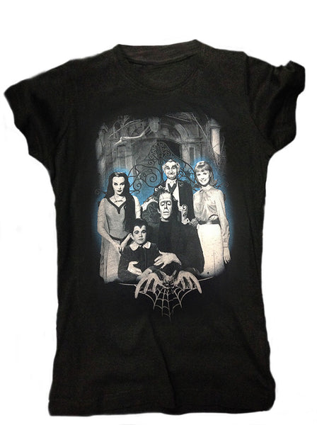 Munsters Blue Family Photo Women's Tee (Rock Rebel)