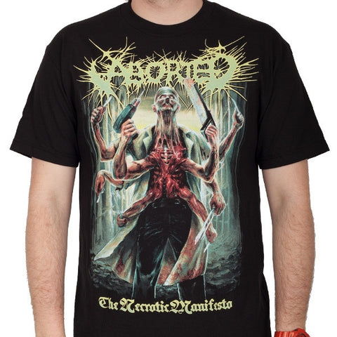 "Aborted ""The Necrotic Manifesto"" Men's Tee (IndieMerch)"